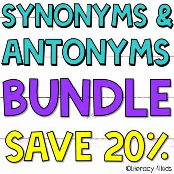 Synonyms and Antonyms Task Cards and PowerPoint $$$ Saving