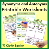 Synonyms & Antonyms Pair Sort Match plus Rewrite the Story