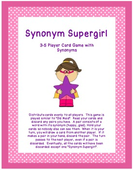 Synonyms and Antonyms Resource Bundle