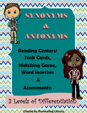 Synonyms and Antonyms Task Cards / Reading Centers Activities