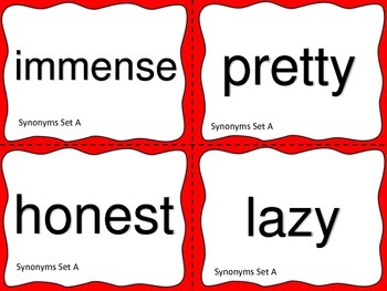 Synonyms and Antonyms:  Task Cards and More