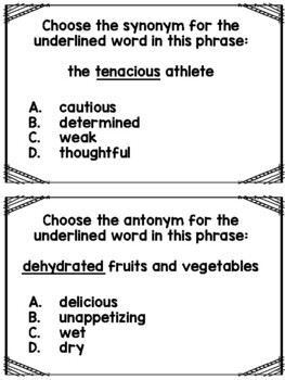 Synonyms and Antonyms Test Strategies... FREE!