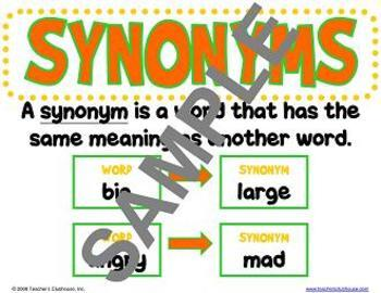 Synonyms and Antonyms Unit from Teacher's Clubhouse