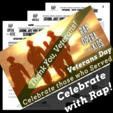 Synonyms & Antonyms Passage with Worksheets Using Veterans Day Rap Song