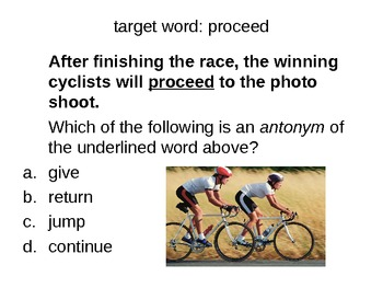 Synonyms and Antonyms and Context Clues / 90 Multiple Choice Questions on  Ppt