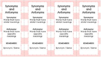 Synonyms and Antonyms for Middle Grades BUNDLE