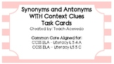 Synonyms and Antonyms for Middle Grades (with Context Clues)