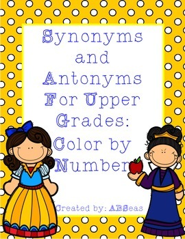 Synonyms and Antonyms Color by Number