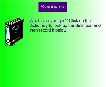 Synonyms and Antonyms for Writing