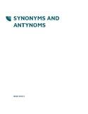 Synonyms and Antonyms Worksheet - Brain Waves