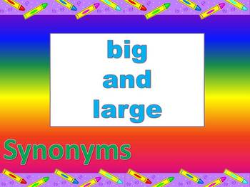 Synonyms and Antonyoms for Elementary Students