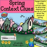 Synonyms and Context Clues about Spring: BOOM Digital Task Cards