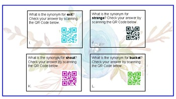 Synonyms and QR Codes
