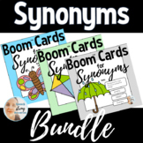 Synonyms for BOOM Cards™: Nouns, Verbs, Qualitative