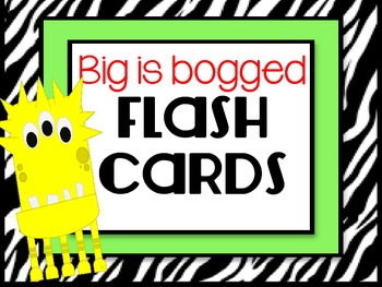 Synonyms for Big Flash Cards