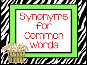 Synonyms for Common Words