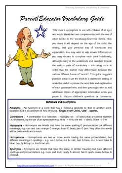 Synonyms for Elementary Learners