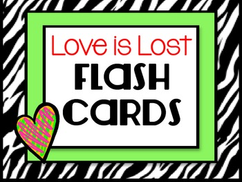 Synonyms for Love Flash Cards
