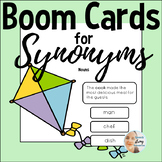 Synonyms for Speech Therapy - Nouns   BOOM Cards   Distanc