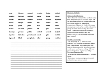 Synonyms for Went - Writer's Resource