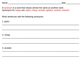 Synonyms for happy 2