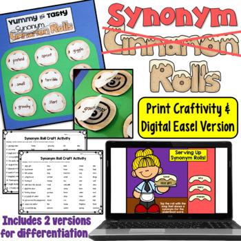 Synonym Rolls Craftivity