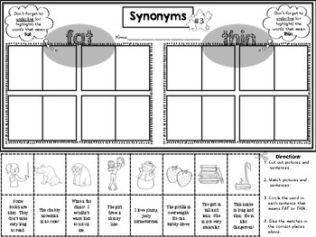 Synonyms in context: cut and paste