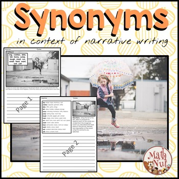 Synonyms: in the Context of Writing (Narrative Writing)