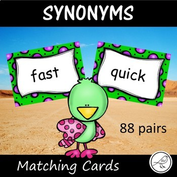 Synonyms - matching cards - 88 pairs