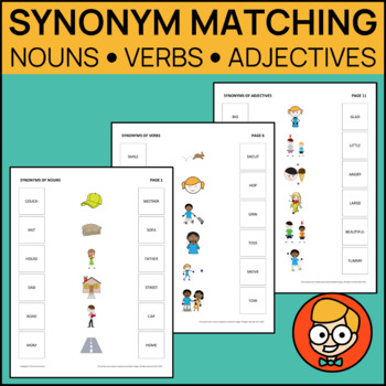 Synonym Matching: Nouns, Verbs, Adjectives