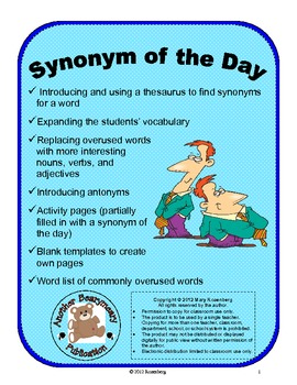 Synonyms of the Day