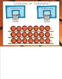 Synonyms or Antonyms Basketball for Smartboard