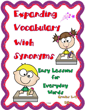 Synonyms to Increase Student Vocabulary