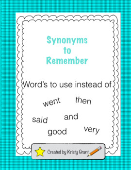 Synonyms to Remember