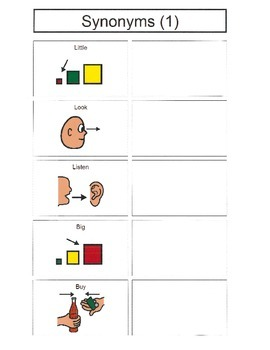 Synonyms with Visual Supports