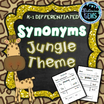 Synonyms Worksheets