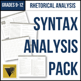 Syntax Analysis Pack: Handouts, Organizers, and Guided Ann