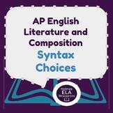 Syntax Choices