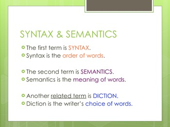 Syntax & Semantics Explained in Real Life