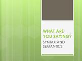 Syntax & Semantics in Real Life (Keynote)