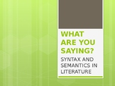 Syntax & Semantics in Real Life (PPT)
