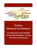 Syntax: Sentence by Sentence