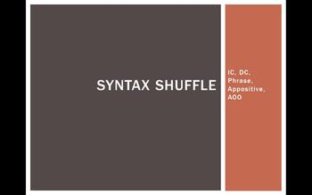 Syntax Shuffle Power Point and Printable Grammar Game