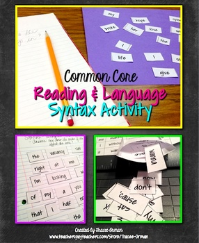 Sentence Structure Syntax Song Lyric and Poetry Analysis A