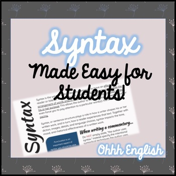 Syntax Student Resource