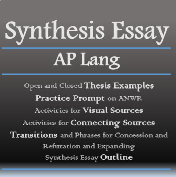 Ap Synthesis Essay Worksheets Teaching Resources TpT