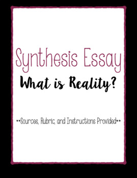 Synthesis Essay Assignment Shakespeare's Writings