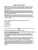 Synthesis Essay: Short-Cut Society