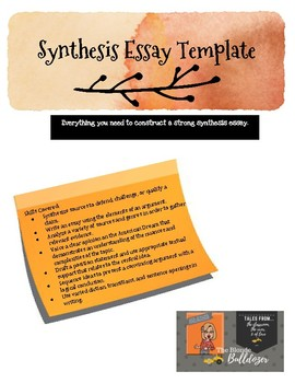 Synthesis Essay Template