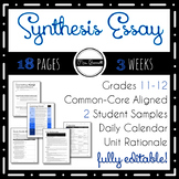 Synthesis Essay Unit (Editable!)